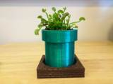 Super Mario Warp Tube Planter and Brick Tray
