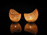 Filigree double wall tealight holder