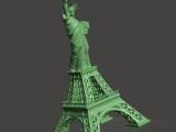 埃菲尔铁塔与自由女神像