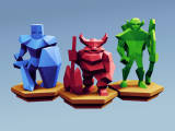 Low Poly Fantasy Tabletop - Alliance Base Units